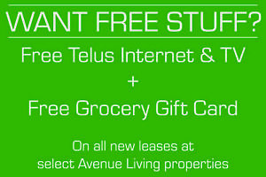 FREE Internet & TV Service + Grocery Gift Card!