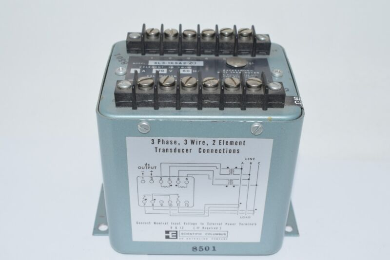 Scientific Columbus XL3-1K5A2-20 Electronic Watt Transducer 1000W 5A 120V