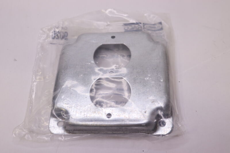 """Hubbell-raco Exposed Work Cover Receptacle Square 1 Duplex 5/8"""" Rise 4"""" 902c"""