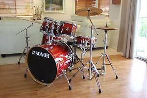 Sonor Force 2007 Birch Stage 2 Amber Fade - 5 Piece Drum Kit Eumundi Noosa Area Preview