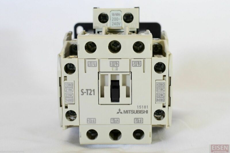 Mitsubishi S-T21 magnetic contactor 200-240V coil (Replaces Mitsubishi S-N21)