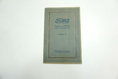 VINTAGE 1920 FORD MODEL T PRICE LIST OF PARTS AND ACCESSORIES CATALOG BOOK NICE!