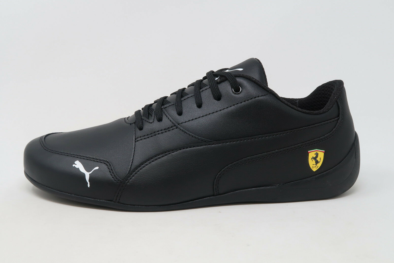 PUMA SF Ferrari Drift Cat 7 Black Leather Lace Up Sneakers Adult Men Shoes 1