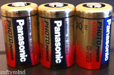 """Brand New """"3""""  Panasonic CR2 3 Volts Single Use Battery for Camera, Meter,"""