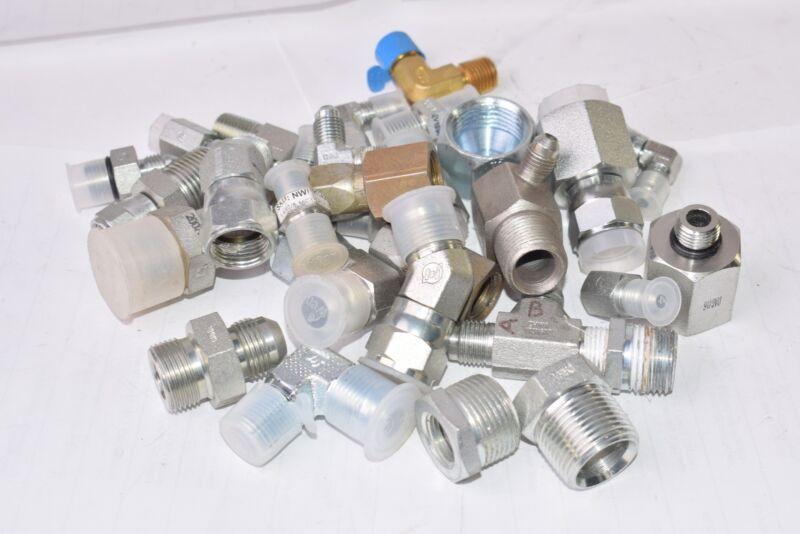 3 LB Lot of NEW & Used Brennan Connector Fitting, Threaded, Mixed Lot