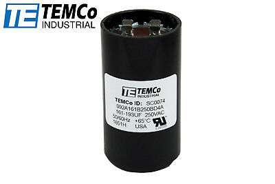 - TEMCo 161-193 MFD uF Electric Motor Start Capacitor 220-250V HVAC 250 vac v volt