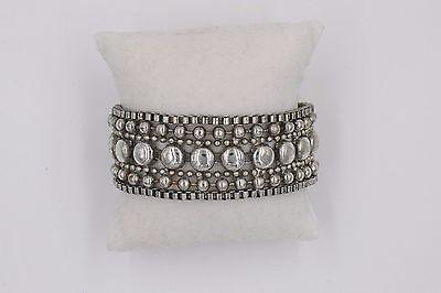 Vintage Silver Tone M&M Button Chain Bracelet Weighs 33 grams - M&m Dress Up