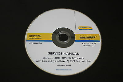 New Holland Boomer 3040 3045 3050 Tractor With Cab Service Repair Manual