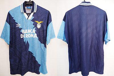 1994-1995 SS Lazio Calcio Jersey Retro Shirt Maglia Away BANCA DI ROMA Umbro XL image