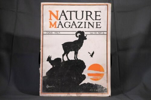 Nature Magazine June 1927 No.6 Nice Phillip Hexom Duotone Lithographic Cover