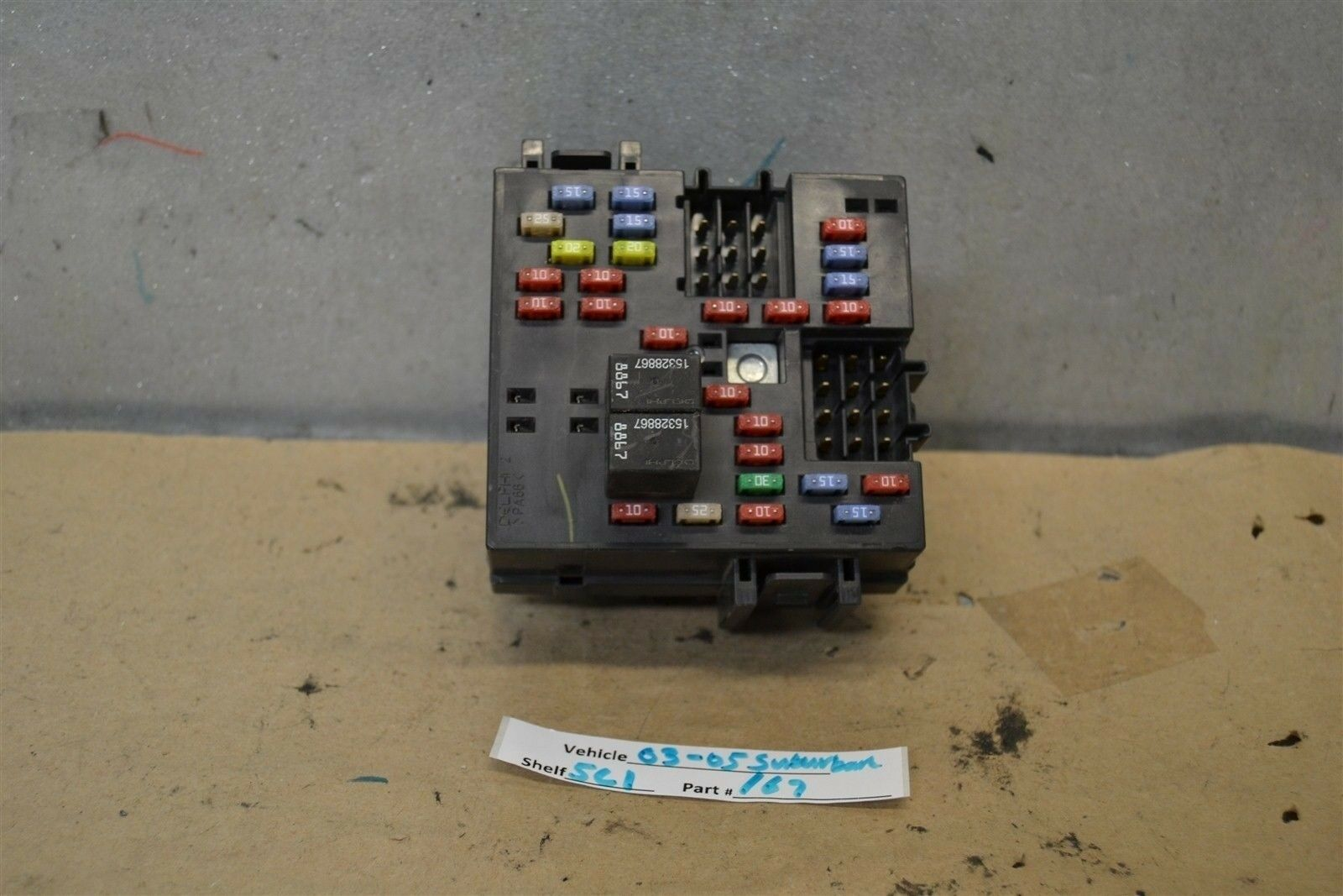 2003-2005 Chevrolet Suburban K1500 Fuse Box Relay Unit 15058033-2007 Module  1967 5C1