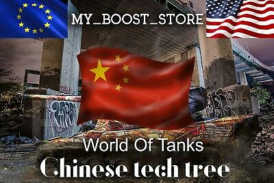 World of Tanks (WoT) -  ANY CHINESE TIER 10 TANK   7 Days   Not Bonus Code  