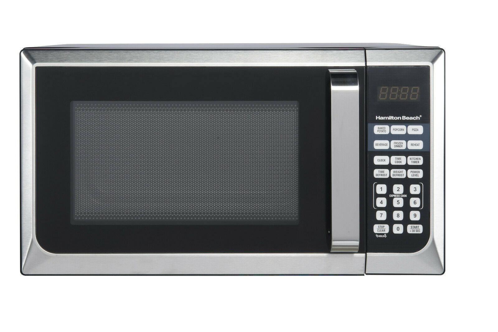 Hamilton Beach 900W 0.9 Cu. Ft. Counter-Top Microwave Oven, Stainless Steel NEW!