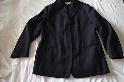 GIORGIO armani le collezioni BLAZER, Ladies Jacket, Sz 44 wool,charcoal zd