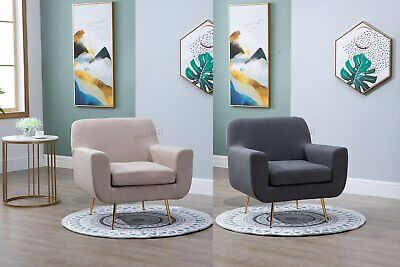 WestWood Fabric Armchair Tub Chair Accent Sofa 1 Seater Upholstered Lounge 8102