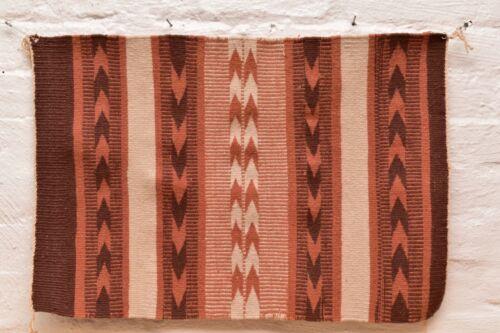 Vintage Navajo Blanket Rug native american indian Wide Ruins Crystal ATQ 25x17