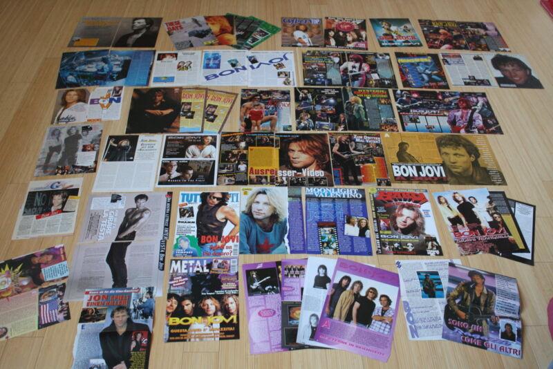 articles clippings posters bon jovi 90