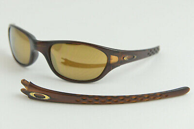 REPAIR/BROKEN Oakley Fives 1.0 Matte Rootbeer/Bronze Sunglasses Good RIGHT (Fix Sunglasses Arm)