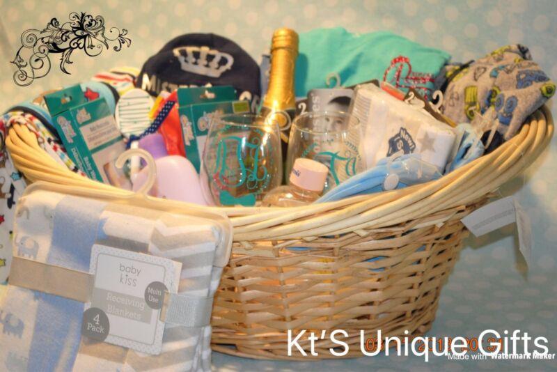 Baby Boy Shower Basket Gift