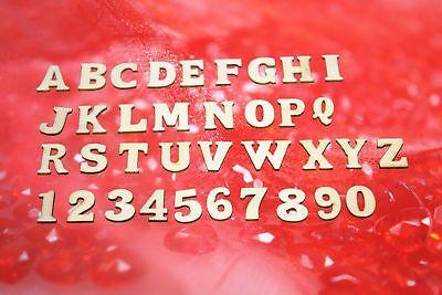 3D Holzbuchstaben Alphabet ABC und Zahlen 1,2,3.. Basteln Scrapbooking Streudeko ()