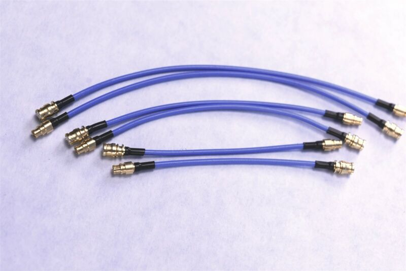 """6 MMCX to MCX 50 Ohm 0-6GHz 1.32mm 0.052"""" RF 2"""" 3"""" & 4"""" Test Cables"""