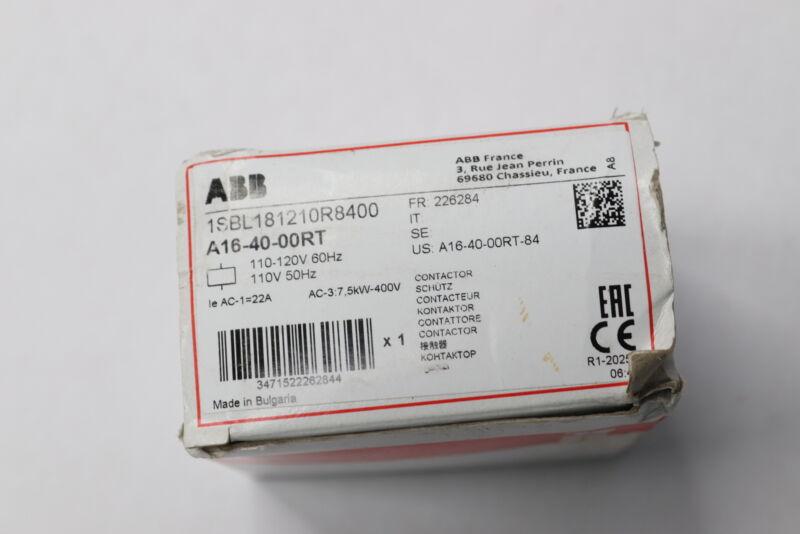 ABB Contactor 4-Pole 17A 60Hz 110-120V A164000RT-84
