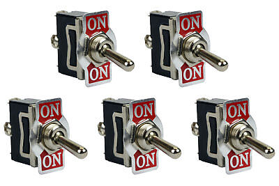 5 Pc Temco Heavy Duty 20a 125v On-on Spdt 3 Terminal Toggle Switch