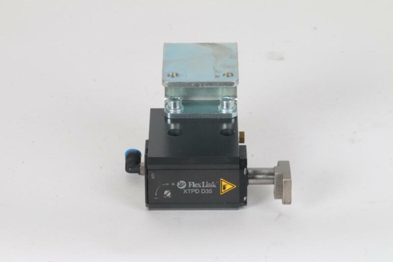 FlexLink XT XTPD D35 #1138 Pneumatic Damped Pallet Stopper 5053783 Rail Bracket