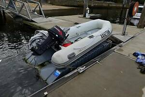 DINGHY WITH COVER, OUTBOARD MOTOR AND PONTOON Lavender Bay North Sydney Area Preview