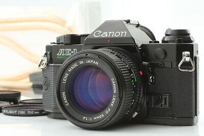 [Near MINT] Canon AE-1 Program Black 35mm SLR New FD NFD 50mm F/1.4 From JAPAN