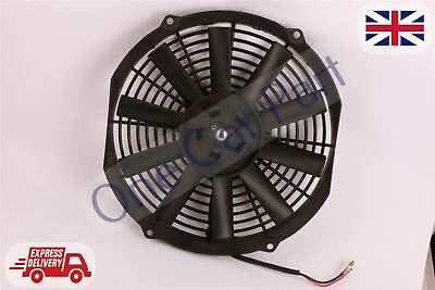 UNIVERSAL ELECTRIC COOLING TURBO KIT CAR CURVED BLADE RADIATOR FAN 12V 80W
