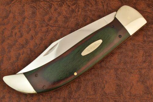 RARE CASE XX USA LAMINATED WOOD EXOTIC BUFFALO CLASP KNIFE NICE 1980