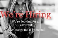 Looking for an assistant.