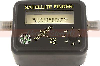 Satellite Signal Finder   Analog Dish Directtv Strength Meter Buzzer Compass Fta