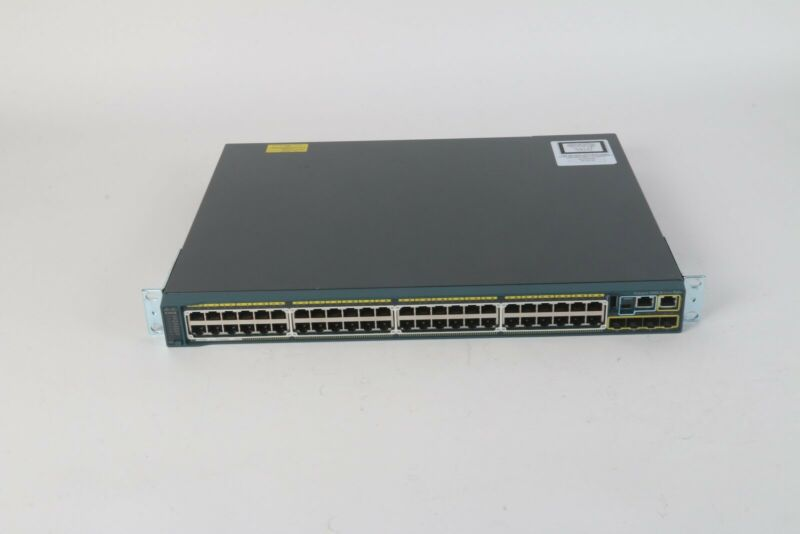 Cisco WS-C2960S-48FPS-L V04 48-Port PoE Ethernet Switch W/ C2960S-STACK Module