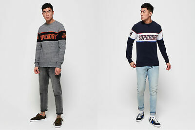 Superdry Mens Retro Stripe Sweatshirt
