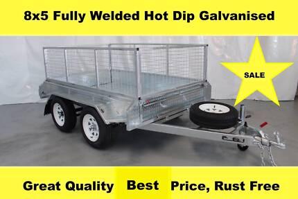 8X5 Fully Welded Hot Dip Galvanised Trailers