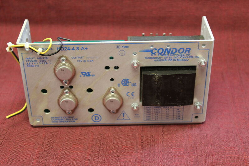 Condor HD24-4.8-A+ Power Supply; 24 VDC; 4.8 A Used