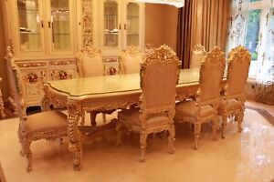 Italian hand carved dining room set