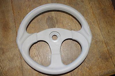 """Boat Steering Wheel, Tan 3-Spoke 13'1/2"""" 1-3/8"""" Octogon Bore *FREE SHIPPING*"""