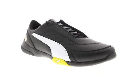 Puma Scuderia Ferrari Kart Cat III Mens Black Low Top Athletic Racing Shoes
