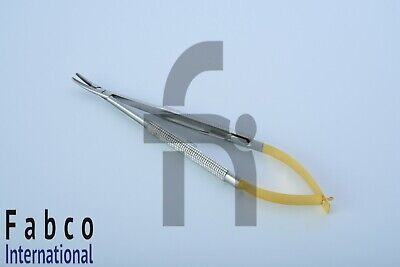 1pc Tc Castroviejo Needle Holder Curved 7 Pliers Dental Surgical Instrument