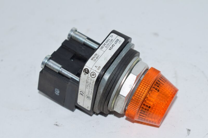 Allen-Bradley 800T-QH2A Pilot Light, Amber, LED, 12-130V AC/DC, 30 mm, Type 4/13