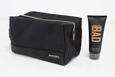 NEW DIESEL Mens Toiletry Wash Carry Bag Travel Pouch 100ml Shower Gel Set