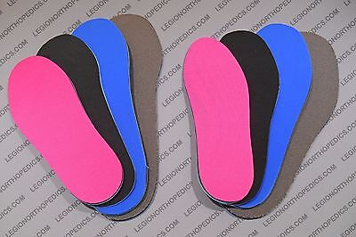 Pink Insoles - Cloth insoles Pink Blue Gray-3/16