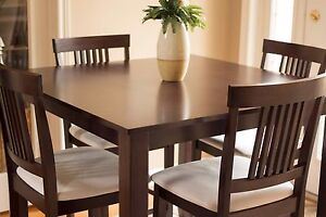 BEAUTIFUL 5pc. Dining Table / Pub Set - GOOD CONDITION