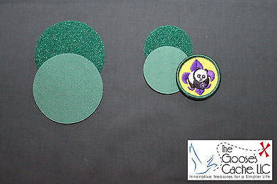 Green Sew-on Hook and Loop for Attaching Patches to Venture Scout Shirts