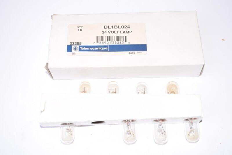 Pack of 8 NEW Telemecanique DL1BL024 24V Lamps