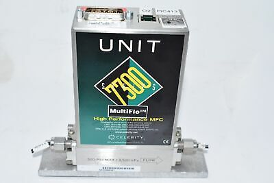 Celerity Unit Instruments Mass Flow Controller 7300 Ufc-7301c 200cc Co2