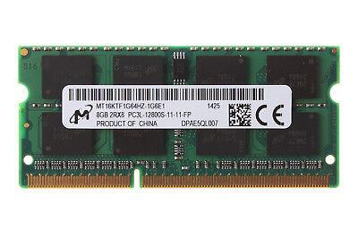 Micron 8GB 2RX8 DDR3L 1600MHz PC3L-12800S 204PIN SODIMM Laptop-Speicher RAM #DSD